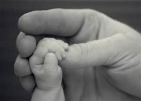 baby hand holding thumb